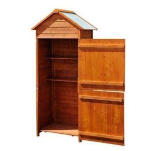 Caseta para herramientas de jardín de madera Homcom