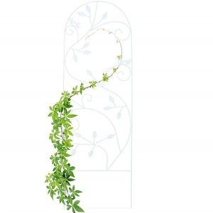 Celosía blanca con diseño elegante
