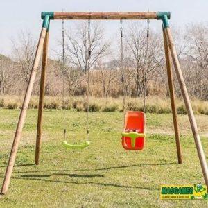 Columpio de jardín doble para niños Masgames