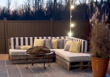 Cómo hacer sofás de jardín con palets paso a paso