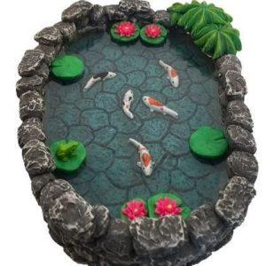 Estanque de jardín prefabricado en miniatura Koi