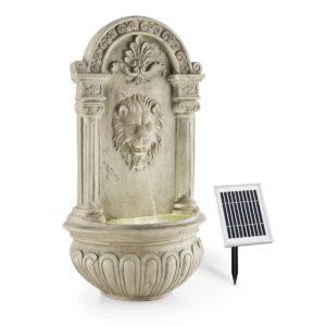 Fuente de pared de jardín con panel solar