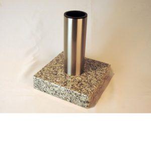 Jarrón de granito para cementerio con acero