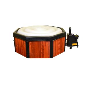 Kit de jacuzzi hinchable de madera