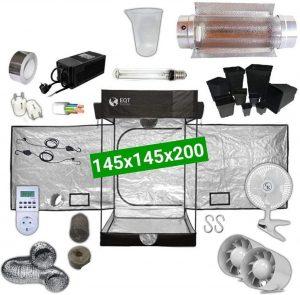 Kit para cultivo de marihuana en interior con temporizador