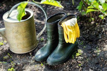 Botas de seguridad para trabajos en el jardín