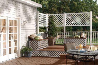 Celosías blancas para el jardín