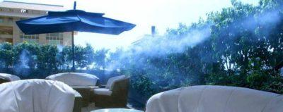 Sistemas de nebulización para terraza