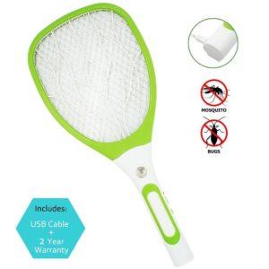 Matamoscas eléctrico de raqueta