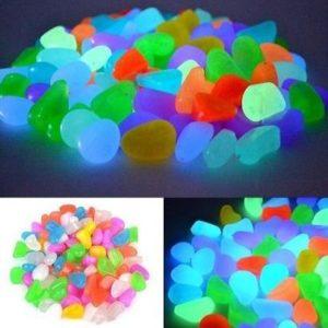 Piedras de colores para jardín brillantes