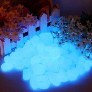 Piedras de jardín Jump Fox que brillan en la oscuridad
