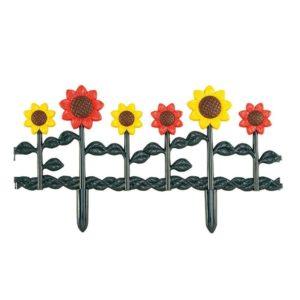 Valla de jardín de girasoles