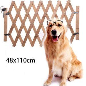 Valla de seguridad para mascotas de madera